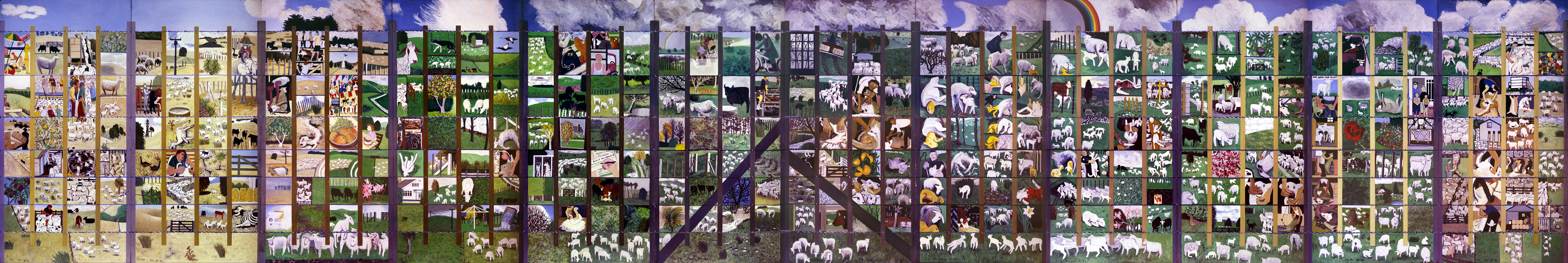 Four Seasons on the Farm mural