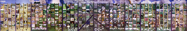 John foster commentary for 4 seasons mural
